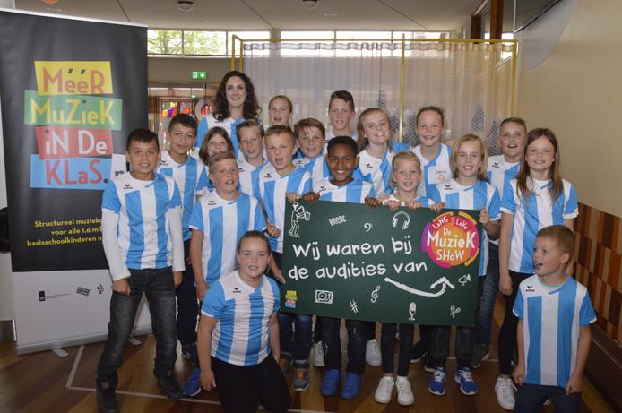 De Regenboog uit Hoedekenskerke was een van de vijf deelnemende scholen.