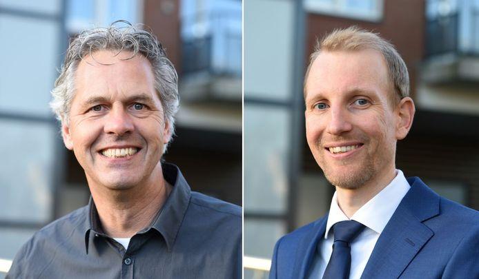Van der Geest (links) en Van Dijk