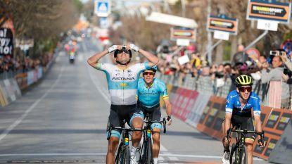 Lutsenko is ondanks twee valpartijen niet van de zege te houden, Yates blijft leider in Tirreno