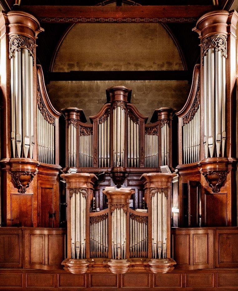 Het monumentale Van Peteghem-Vereecken-Loncke-orgel in Denderleeuw.