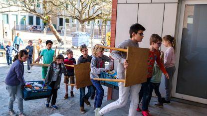 Kleuters Jan Frans Willemschool nemen intrek in nieuwe klasjes