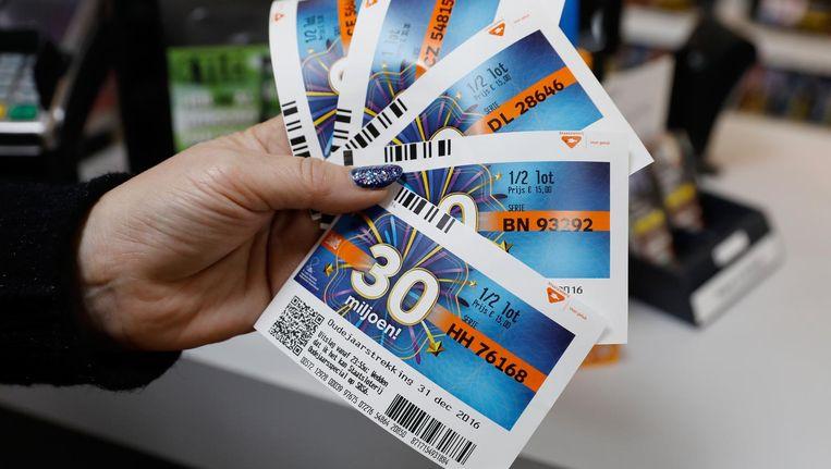 Ook niet-verkochte loten bleken mee te doen in de loterij. Beeld anp