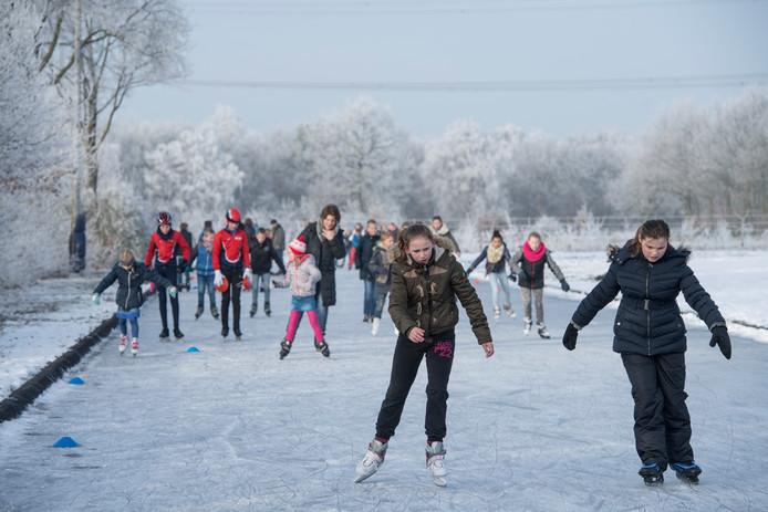 Vorig jaar was de Wierdense ijsbaan één van de eerste banen in Nederland die openging.