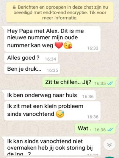 Bredanaar door 'dochter' opgelicht via WhatsApp: 'Je voelt je enorm bescheten'