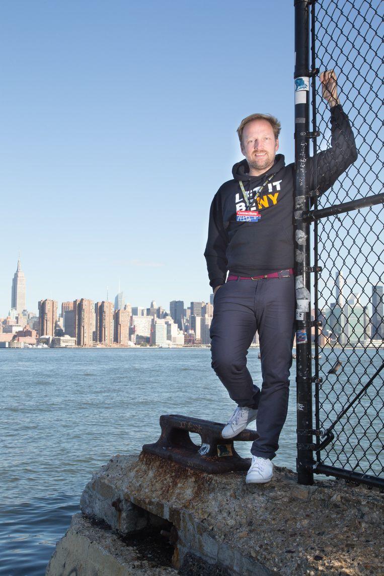 Patrick Van Roosendaal in zijn nieuwe woonplaats New York.