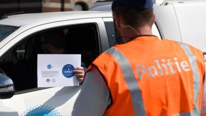 Politie controleert op naleven coronamaatregelen: 120 pv's en 32 onmiddellijke inningen