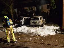 Twee auto's in vlammen op bij brand in Malden