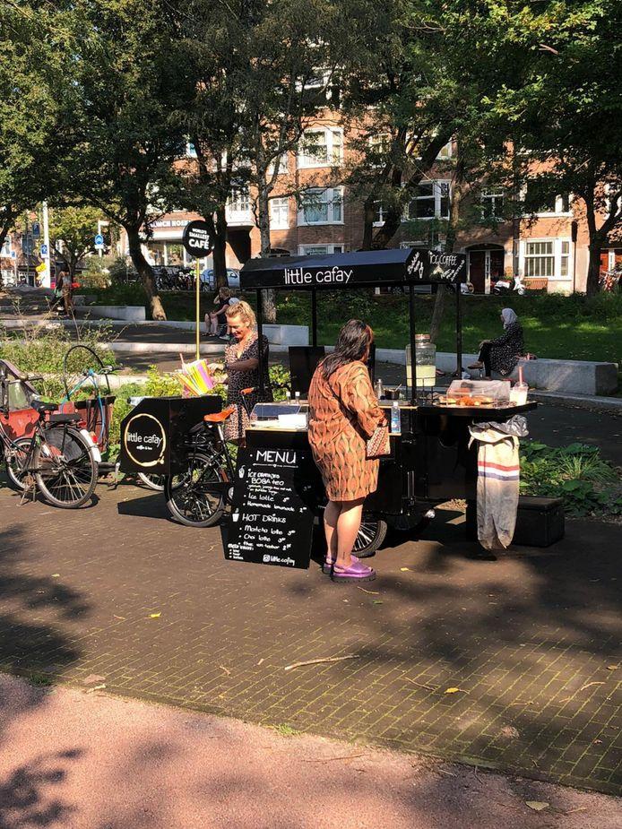De koffiekar van Inge de Vries.