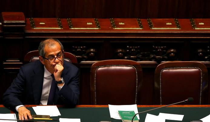 De Italiaanse minister van Financiën Giovanni Tria