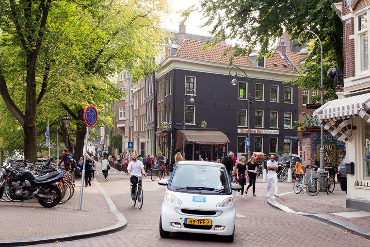 Benzinevrij vervoer in de binnenstad van Amsterdam: als het aan wethouder Sharon Dijksma (Verkeer) ligt is dit vanaf 2030 de realiteit.  Beeld Hollandse Hoogte / Thomas Schlijper