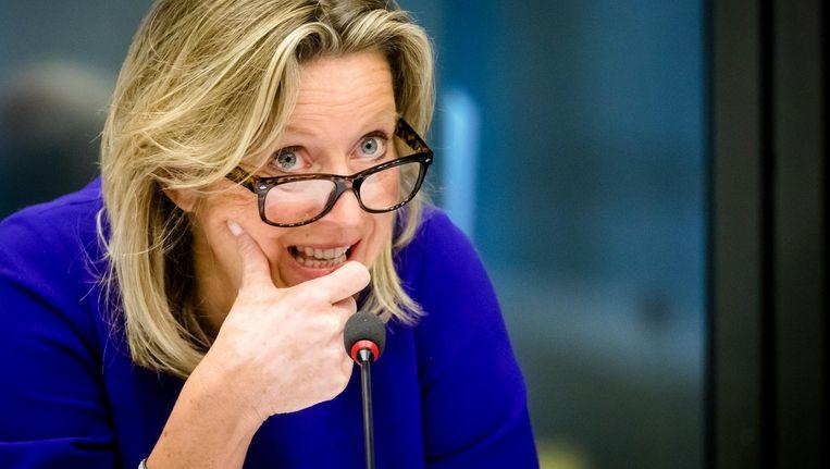 Minister Kajsa Ollongren tijdens een algemeen overleg over de nieuwe wet Beeld anp