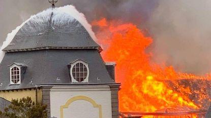 Vuurzee in kasteel van Viane