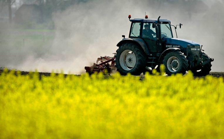 Veel boeren hadden dit jaar last van droge grond. Beeld Olaf Kraak/ANP