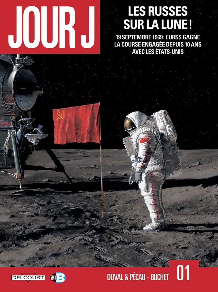 De cover van 'Russen op de maan'. Beeld