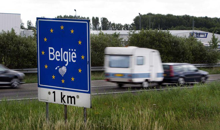 De grens van België. Beeld null