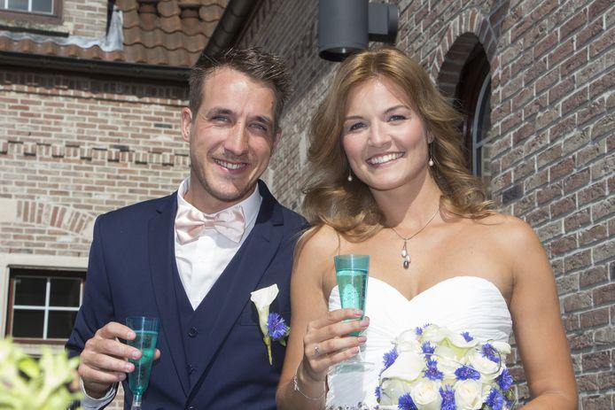 Andy en Tine trouwden om 15.30 uur in Haaltert.