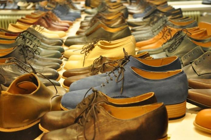 Leren schoenen.