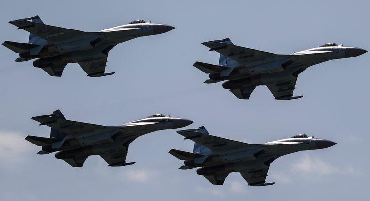 De Verenigde Staten vinden het niet oké dat China onder meer SU-35-straaljagers kocht van een Russische wapenexporteur.