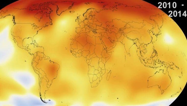 De opwarming van de Aarde dudelijk geïllustreerd in een video van NASA.