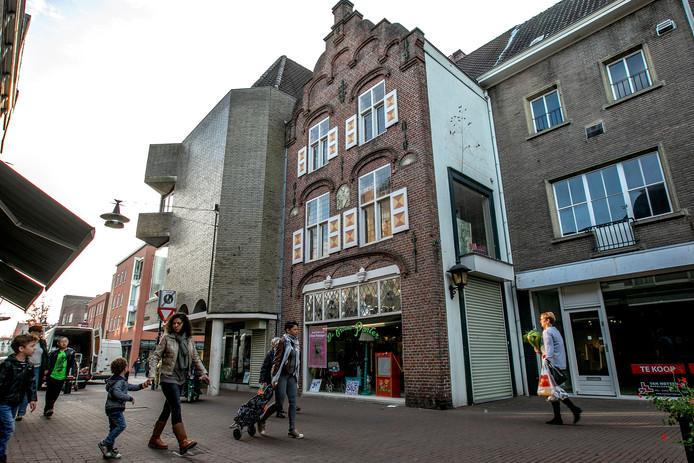 De gevel aan de Ameidestraat in Helmond.