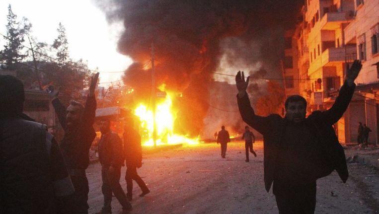 Brand in Aleppo Beeld reuters