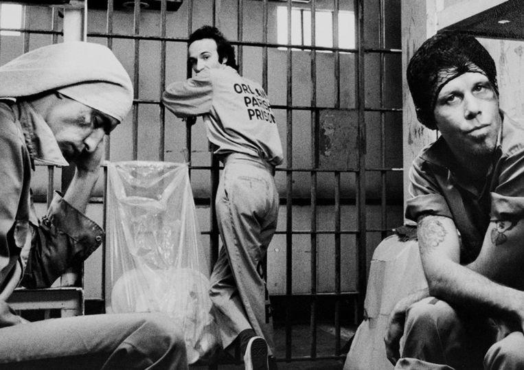 Still uit Down by law (1986), met John Lurie, Roberto Benigni en Tom Waits. Beeld null