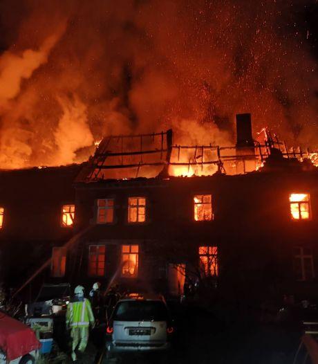 Gros dégâts à la Ferme aux deux tours, à Hermalle-sous-Huy