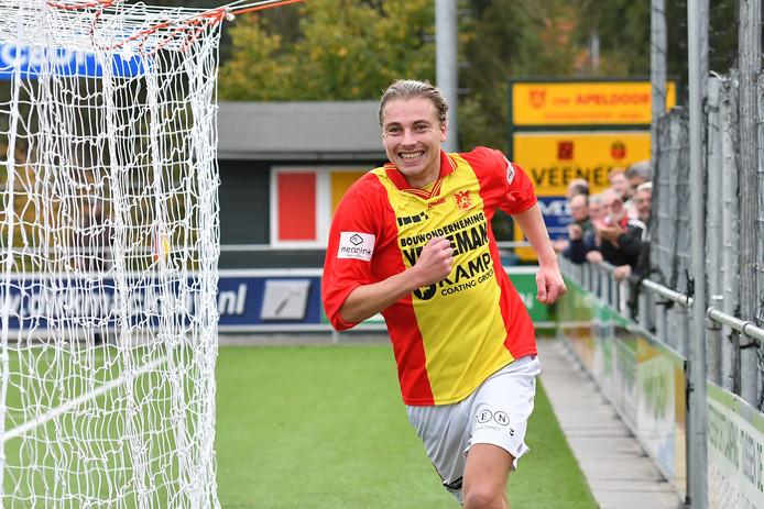 Sander Krijns scoorde de 1-1, maar kon een nederlaag van CSV niet voorkomen.