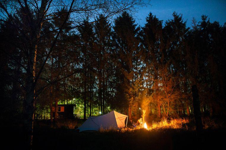 Kamperen via Campspace bij Mirjam Laan in Nooitgedacht, Drenthe. Beeld Pauline Marie Niks
