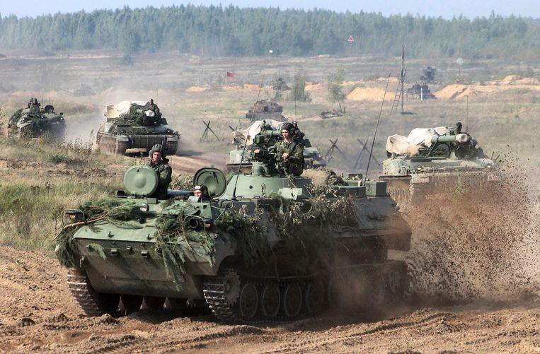 De militaire oefening 'Zapad' van Rusland en Wit-Rusland in september jongstleden