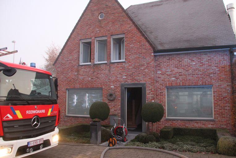 De brand in de villa bleef beperkt tot de stookkamer.