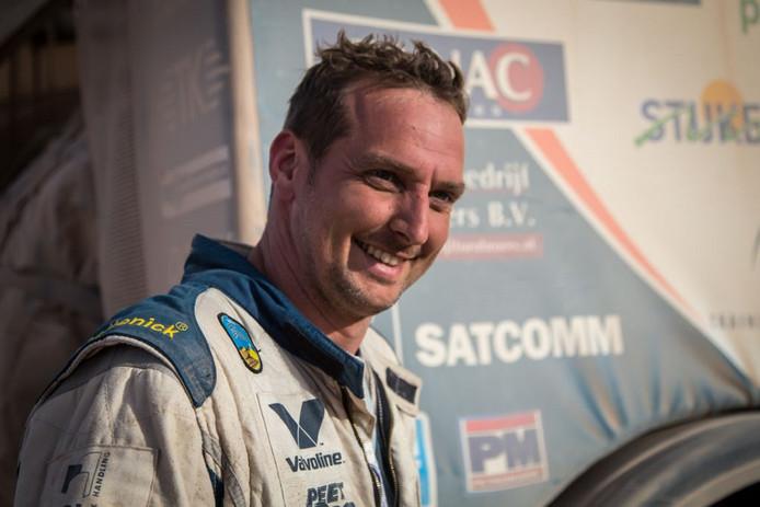 Hugo Kupper tijdens zijn laatste Dakar Rally begin 2015.