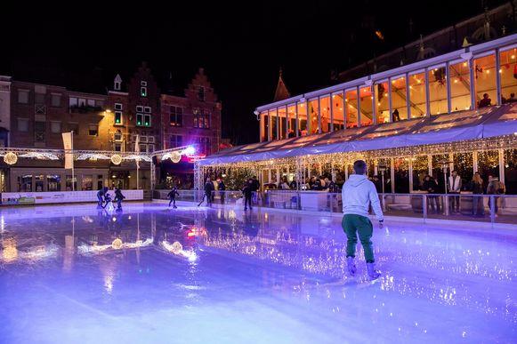 De schaatsbaan in Sint-Truiden.