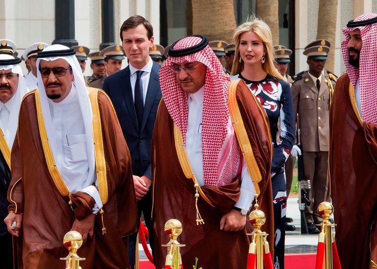 In mei bezocht Trumps dochter Ivanka en zijn schoonzoon Jared Kushner Saoedi-Arabië om een oplossing voor het Palestijns-Israëlische conflict te bedisselen.