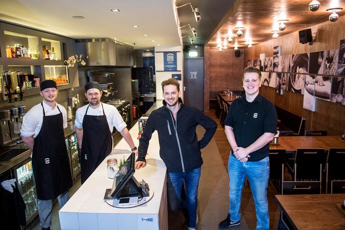 Team van Wally: Stijn en Stefan en Daan en Laurens.