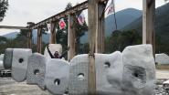 Beeldhouwer Jorg Van Daele realiseert huzarenstukje in Zuid-Korea: kunstwerk van 15 ton, zes meter hoog en twee meter breed