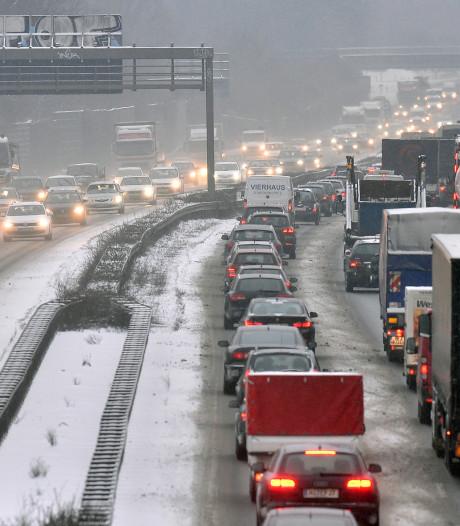 Het is druk op de wegen naar de wintersport
