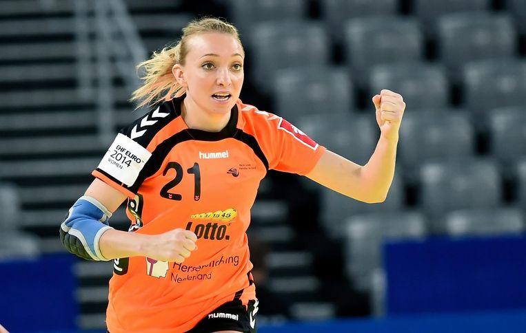 Handbalster Michelle Goos Beeld anp