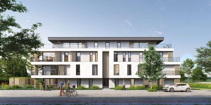Zo zal het bouwproject aan de Weeldestraat er uitzien.
