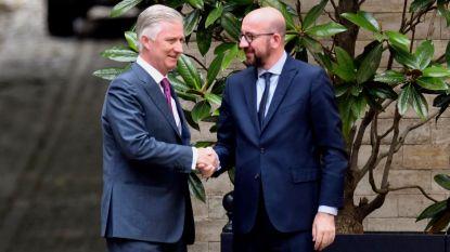 Koning benoemt Charles Michel tot minister van Staat
