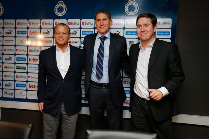 Bart Verhaeghe, Juan Carlos Garrido en Vincent Mannaert bij de voorstelling van de Spanjaard in november 2012.
