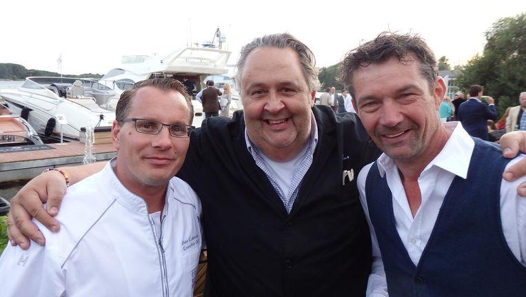 De organisatoren: chef Onno Kokmeijer (Ciel Blue, Okura), chef Julius Jaspers (Julius Bar & Grill, Happyhapyjoyjoy) en chef Ferry van Houten (vlnr, Het Bosch). Beeld Schuim