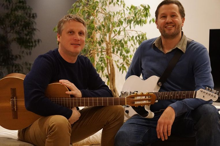 Arne Speltincx (links) en Dieter Dubron.