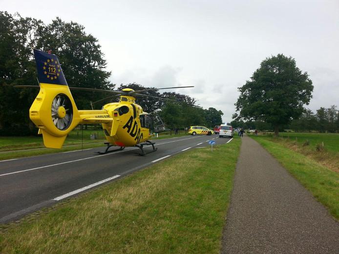 De traumahelikopter is uit Duitsland overgekomen