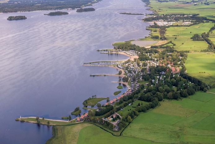 Vakantiepark Bad Hoophuizen in Hulshorst. De parken langs de Veluwemeerkust worden als eerste onder de loep genomen door de gemeente Nunspeet.