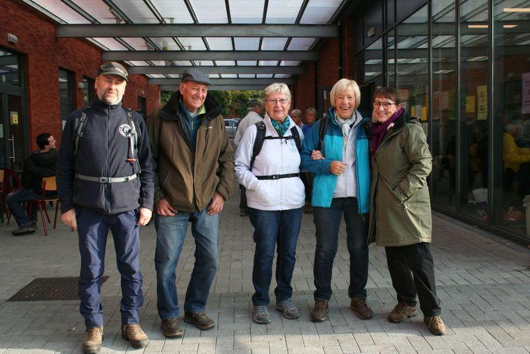 Wandelaars uit Glabbeek en Overijse aan de start