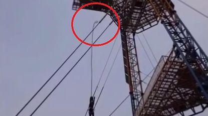 Vrouw overleeft op miraculeuze wijze ongezekerde bungeejump van 42 meter hoog