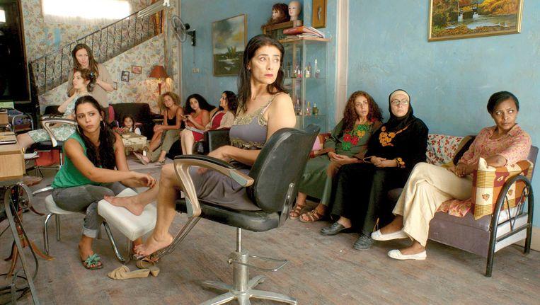 De dames in de schoonheidssalon Beeld -