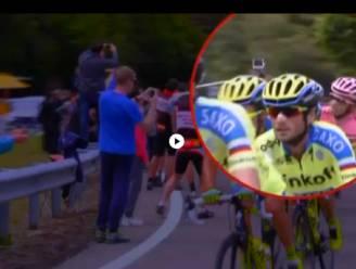 Contador laat fan even weten wat hij van zijn selfiestick vindt...
