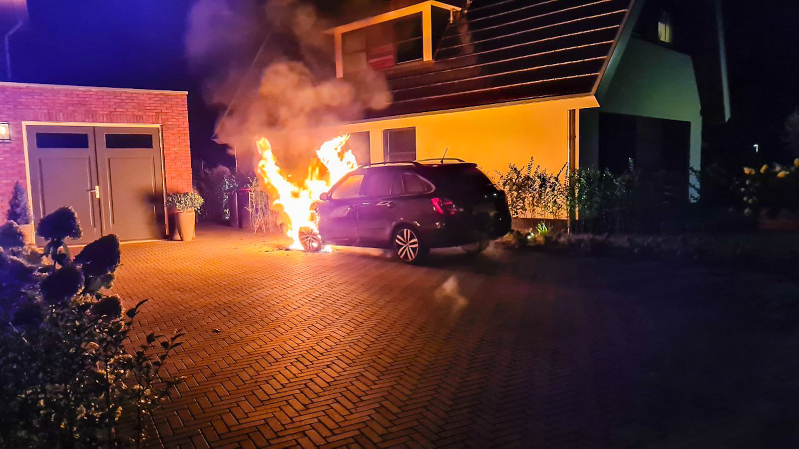 Autobrand in Epe.